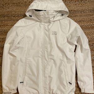 Helly Hansen White Windbreaker jacket waterproof